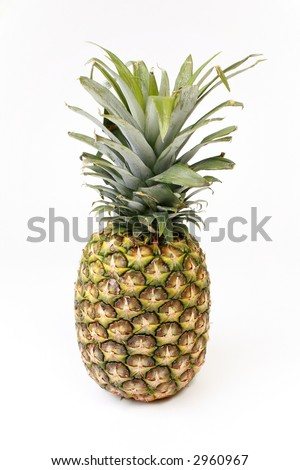 Pineapple isolated on white. - stock photo