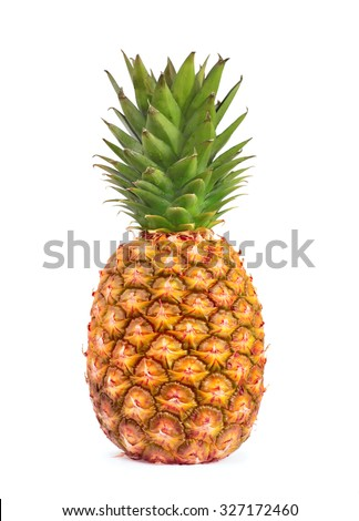Pineapple isolated on white background - stock photo