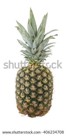 Pineapple on a white background