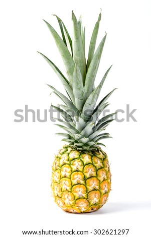 pineapple on the white background