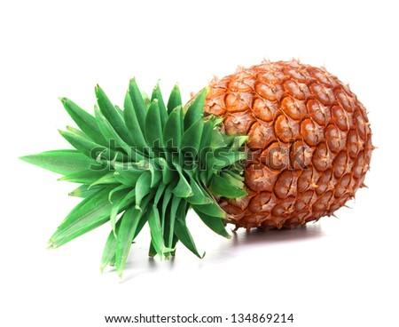 Pineapple on white background. - stock photo