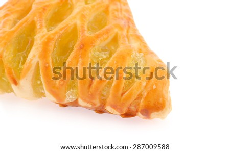 Pineapple pie isolated on white background