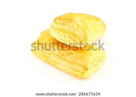 pineapple pie on white background