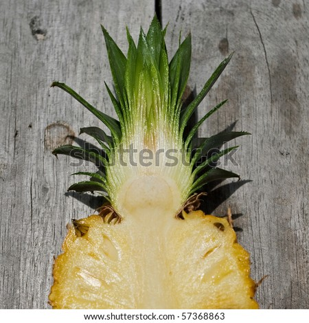 Pineapple ripe fruit