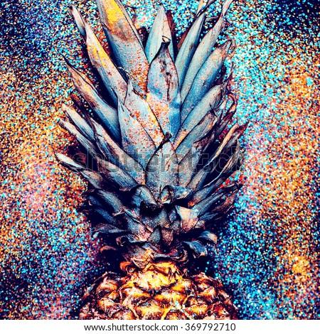 Pineapple Shine Fashion Minimalism style. - stock photo