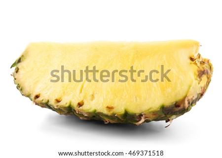 Pineapple slice, isolated on white
