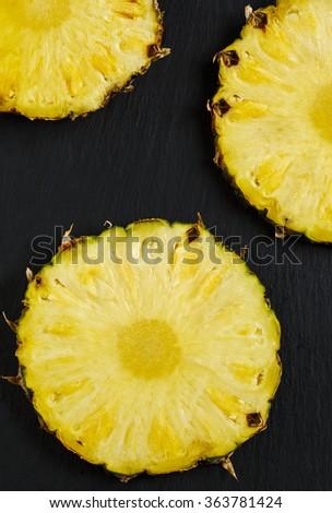 Pineapple slices - stock photo