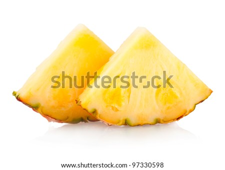 pineapple slices - stock photo