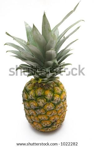Pineapple (Top View) - stock photo