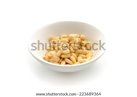 pinenuts - stock photo