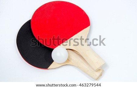 Ping Pong On a white background.