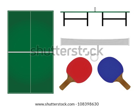 Ping Pong Table & Rackets