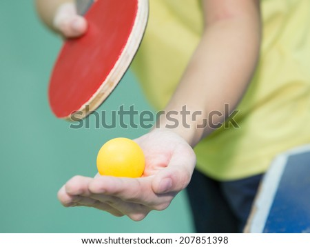 ping pong, Tabletennis - stock photo