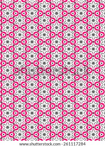 pink Abstract  decoration, retro floral and geometric ornament,  lace pattern - stock photo
