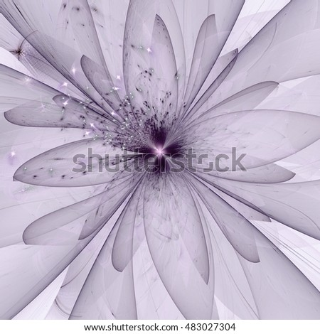 pink abstract flower with sparkles on black background,
