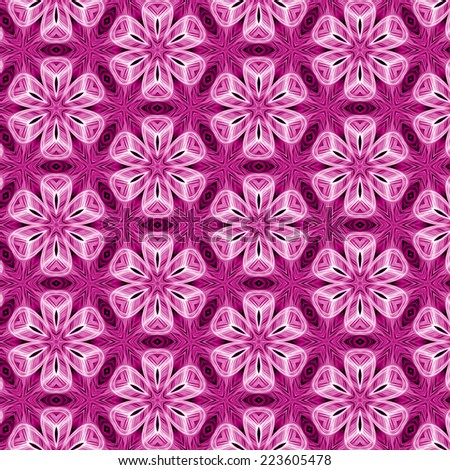 pink abstract flowers pattern