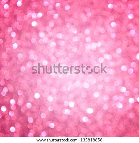 pink abstract glitter bokeh lights. defocused - stock photo