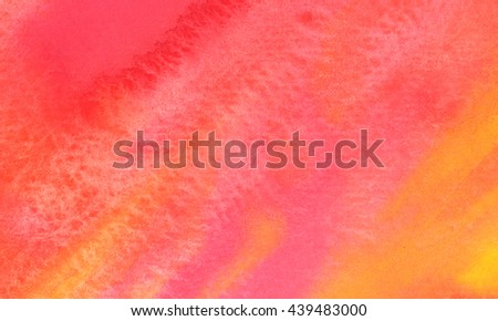 Pink abstract hand drawn watercolor background, raster illustration, stain watercolors colors wet on wet paper - stock photo