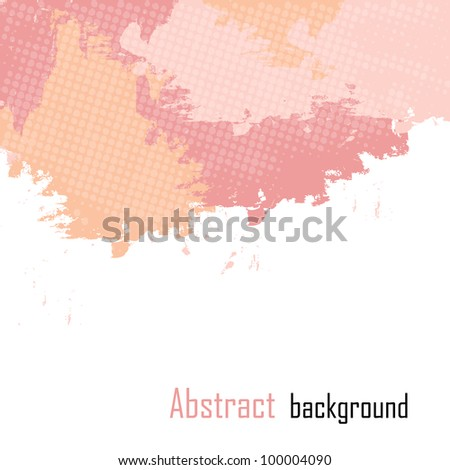 Pink abstract paint splashes illustration.  background with place for your text. - stock photo