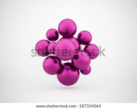 Pink abstract sphere concept background rendered - stock photo