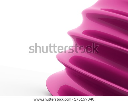 Pink abstract waves concept on white