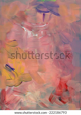 Pink acrylic paint texture background. Abstract artwork for design