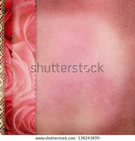 pink album cover - stock photo