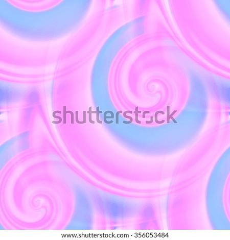 pink and blue spirals - seamless texture - stock photo