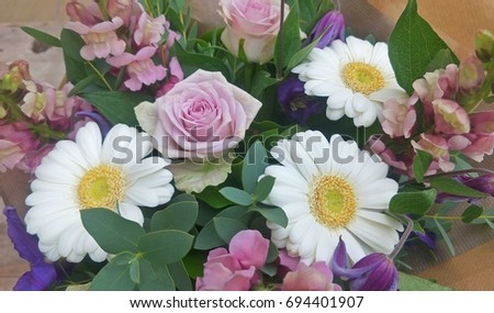 Pink and Purple flower bouquet