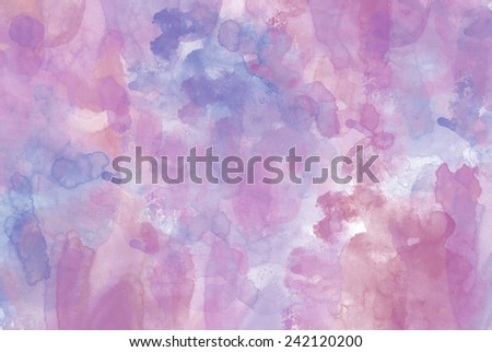 pink and purple watercolor abstract - stock photo