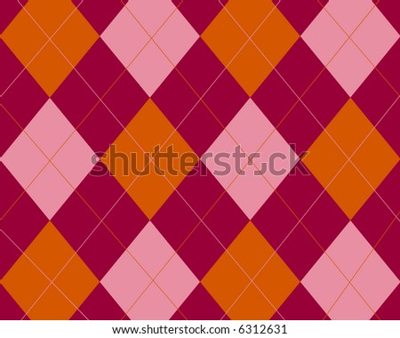 Pink and red argyle