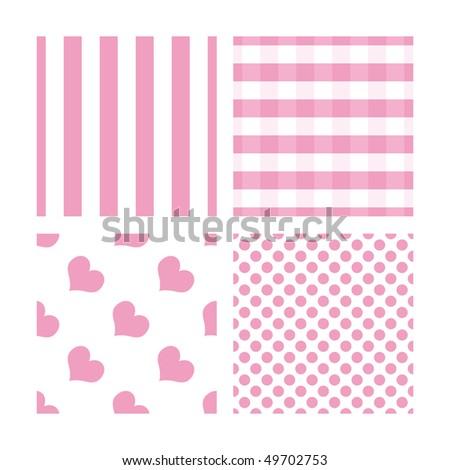 Pink and white seamless pattern - stock photo