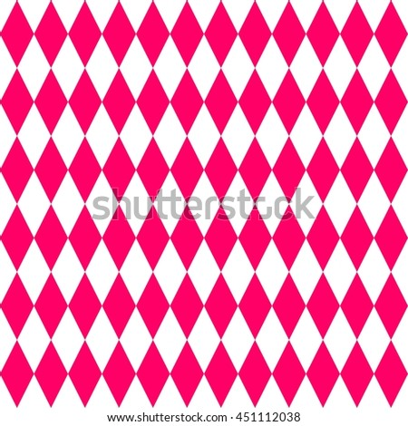 Pink and white tile pattern