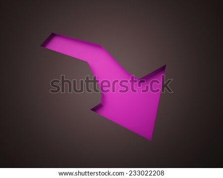 Pink arrow business concept rendered - stock photo