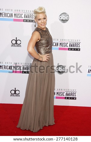 Pink at the 40th Anniversary American Music Awards held at the Nokia Theatre L.A. Live in Los Angeles, United States, 181112.  - stock photo