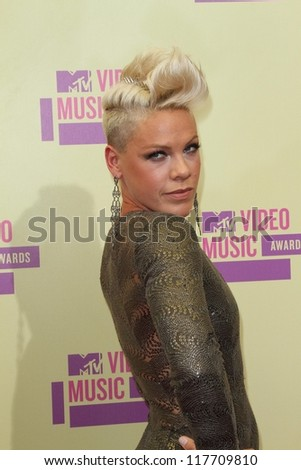 Pink at the 2012 Video Music Awards Arrivals, Staples Center, Los Angeles, CA 09-06-12
