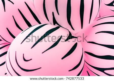 Bon Abstract Safari Animal Pattern Print On Pastel Bubble Gum Color  Balloons. Colorful