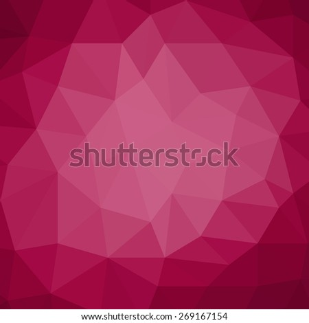 pink background design, triangle shapes in mosaic pattern of diamond facets, low poly triangular style background design texture - stock photo