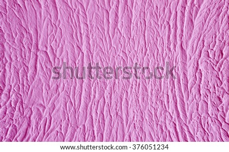 pink background, plaster, wavy structure, ice cream textured - stock photo