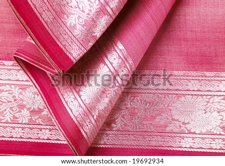 Pink background with beautiful foldings