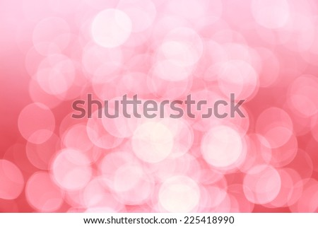 Pink background with bokeh defocused lights - stock photo