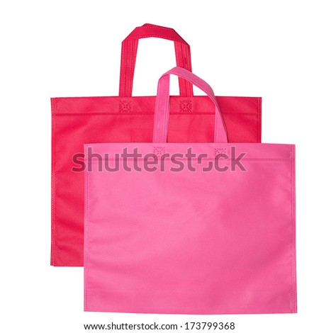 pink bags isolated on white pink and red bags isolated on white