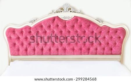 Pink beautiful bedhead - stock photo