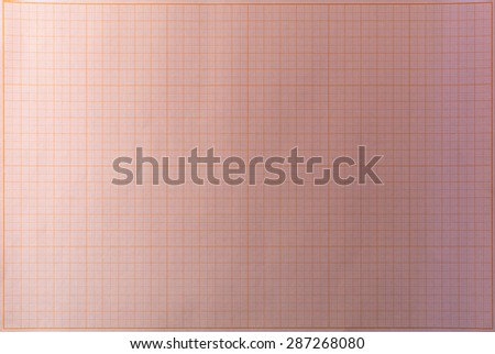 Pink blank school graph paper in seamless overhead position - stock photo