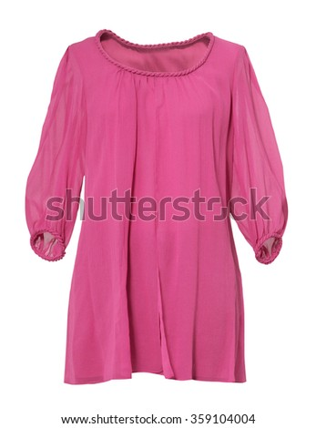 pink blouse isolated on white background  - stock photo