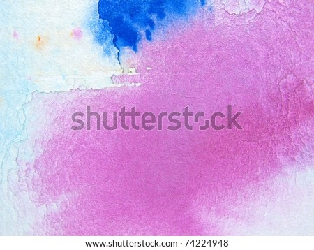 Pink & Blue Watercolor 3 - stock photo