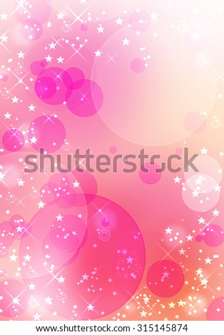 Pink bokeh background. Defocused lights background. Blurred wonderful wallpaper with shining stars and blinks. Sparkles bokeh beautiful concept. Valentine Day love beautiful. Happy New Year concept. - stock photo