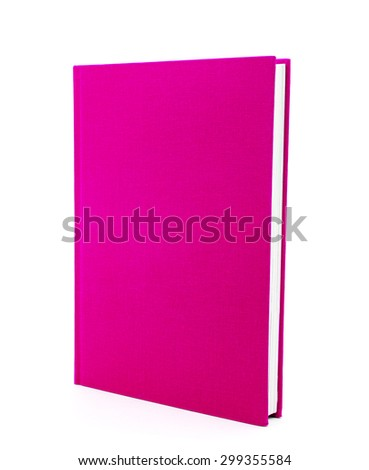 pink book isolated on white background - stock photo
