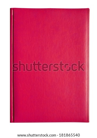 Pink book on white