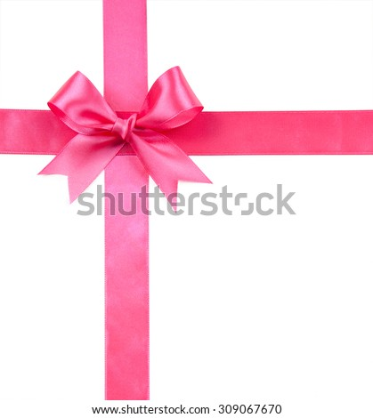 pink bow isolated on white isolated on white